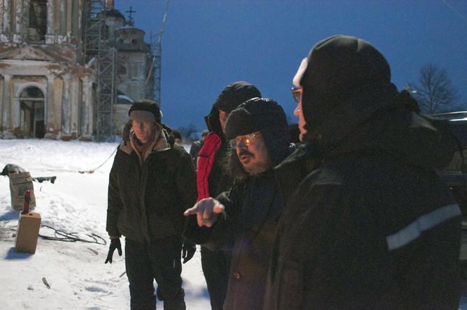 Алексей Балабанов на съемочной площадке фильма «Я тоже хочу».