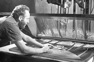 На съемках фильма-сказки «Поди туда, не знаю куда» на студии «Союзмультфильм» в 1966 году