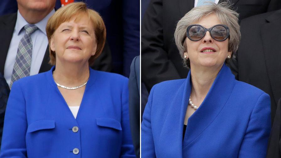 Картинки по запросу Меркель и Мэй на саммите НАТО