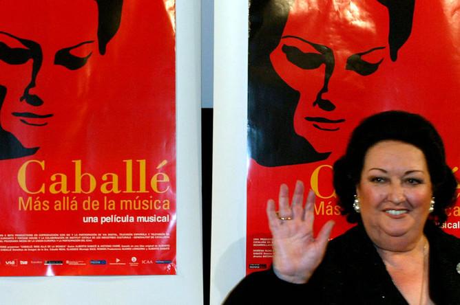 Певица Монсеррат Кабалье, 2003