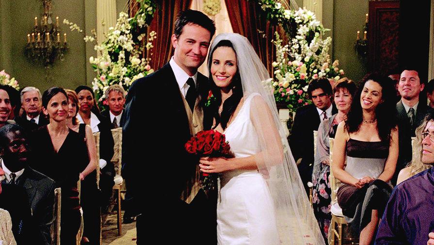 Картинки по запросу моника и чендлер свадьба