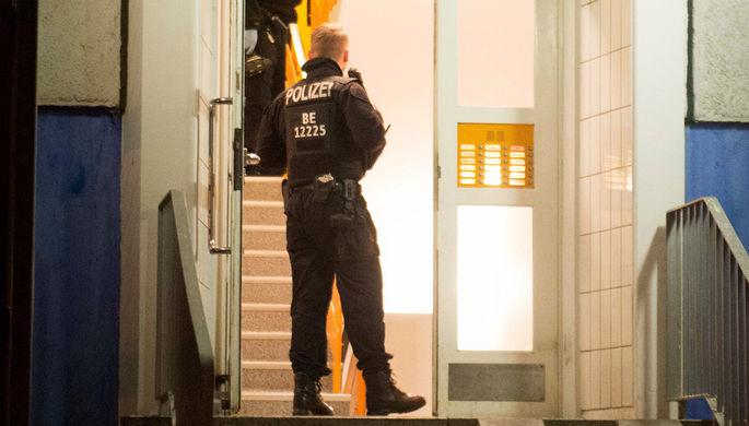 Полиция Берлина во время рейда, 14 января 2020 года