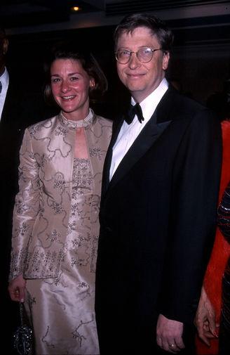 Мелинда и Билл Гейтс в Нью-Йорке, 2001 год