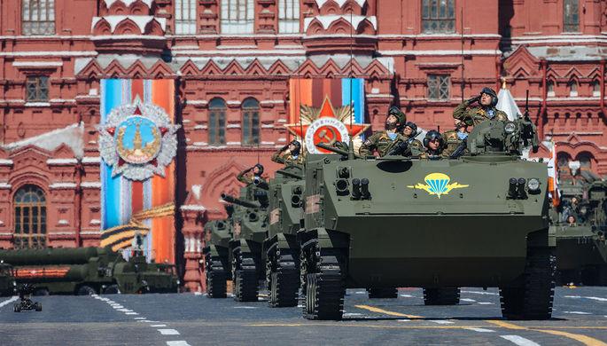 Бронетранспортер БТР-МДМ «Ракушка» на генеральной репетиции военного парада в Москве, 7 мая 2017 года