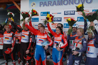Сборная России стала чемпионом Европы по санному спорту в эстафете