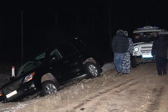 Автомобиль Lexus, найденный в районе деревни Судаково Ленинского района и принадлежащий, предположительно, похищенному гендиректору сети «Спар. Центральный регион» Антону Белобрагину