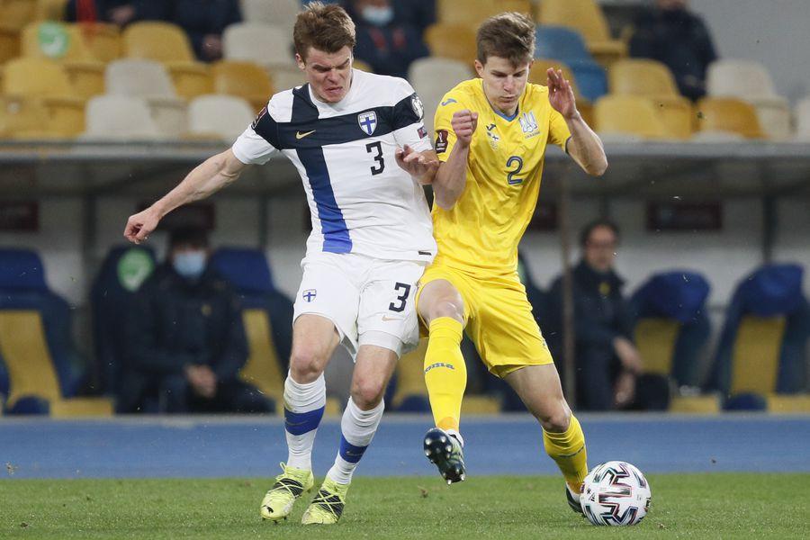 Эпизод матча Украина- Финляндия