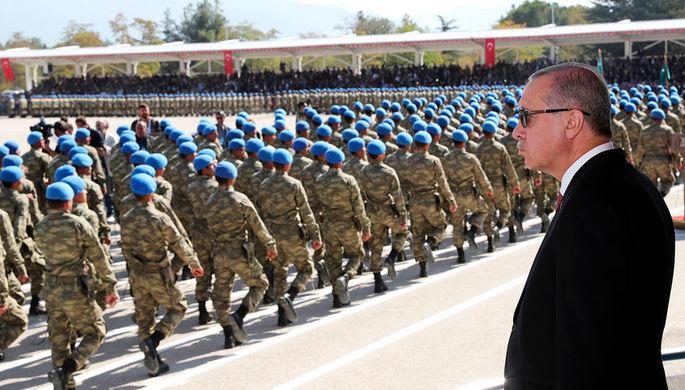 Президент Турции Реджеп Тайип Эрдоган во время мероприятия в Ыспарте, октябрь 2018 года