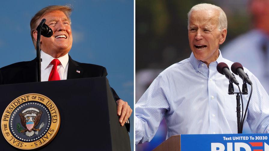 Президент США Дональд Трамп и кандидат в президенты Джо Байден, коллаж «Газеты.Ru»