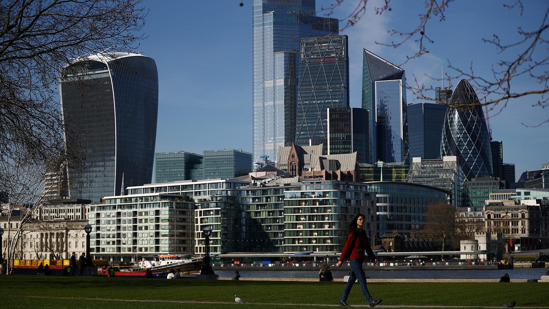 Вид на деловой район в Лондоне, 24 марта 2020 года