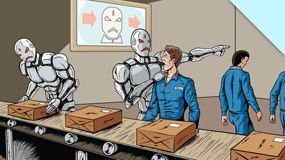 As robots replace human in the workplace