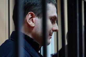 Адам Осмаев, обвиняемый в подготовке покушения на президента России Владимира Путина, на заседании Приморского районного суда Одессы, ноябрь 2014 года