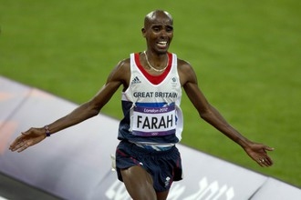 Британский легкоатлет Мо Фарах — олимпийский чемпион в беге на 10000 м
