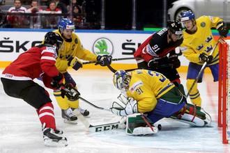 Сборная Канады против шведов