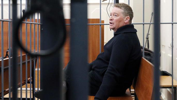 Бывший глава Марий Эл Леонид Маркелов в Басманном суде Москвы, 14 апреля 2017 года
