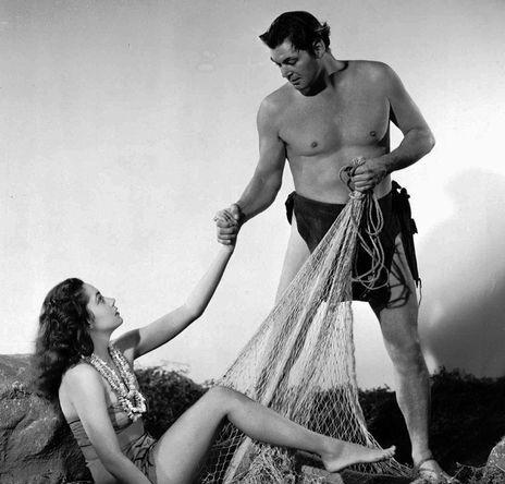 Джонни Вайсмюллер в фильме «Тарзан и русалки», 1948 год