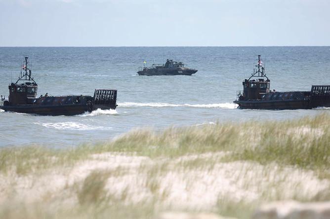 Во время учений BALTOPS в Балтийском море у берегов Польши, 2015 год