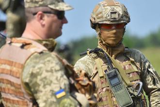 Военные учения солдат ВСУ во Львовской области