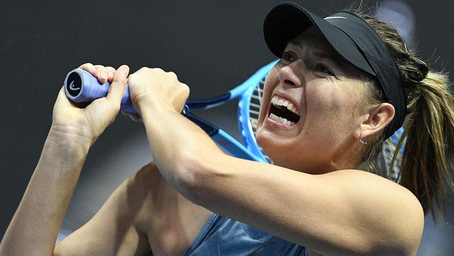 Мария Шарапова в матче первого круга женского одиночного разряда на турнире St.Petersburg Ladies Trophy 2019 против Дарьи Гавриловой (Австралия), 2019 год