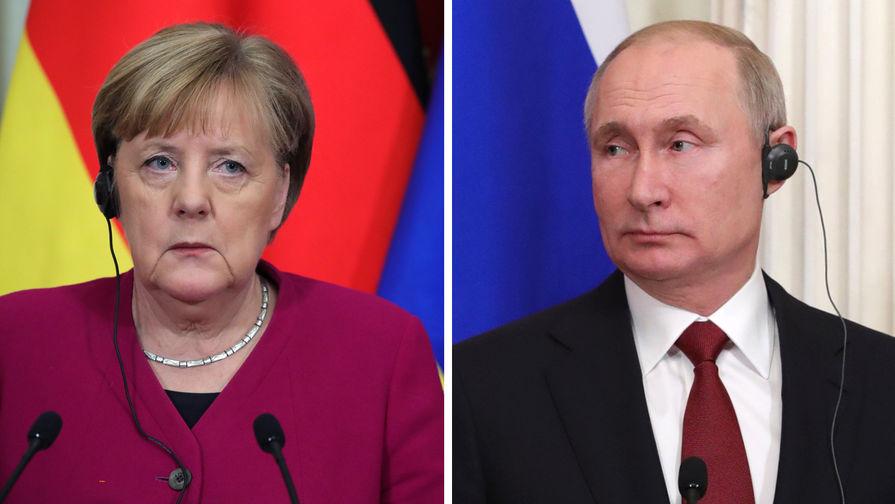 Путин и Меркель обсудили провокационные действия Киева в Донбассе