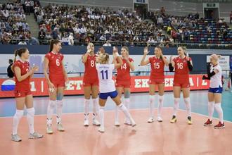 Женская сборная России по волейболе встречается в 1/4 финала Евро с Турцией