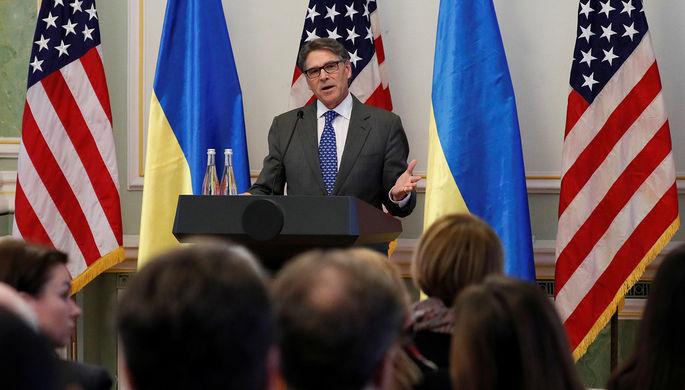 Министр энергетики США Рик Перри во время визита в Киев, ноябрь 2018 года