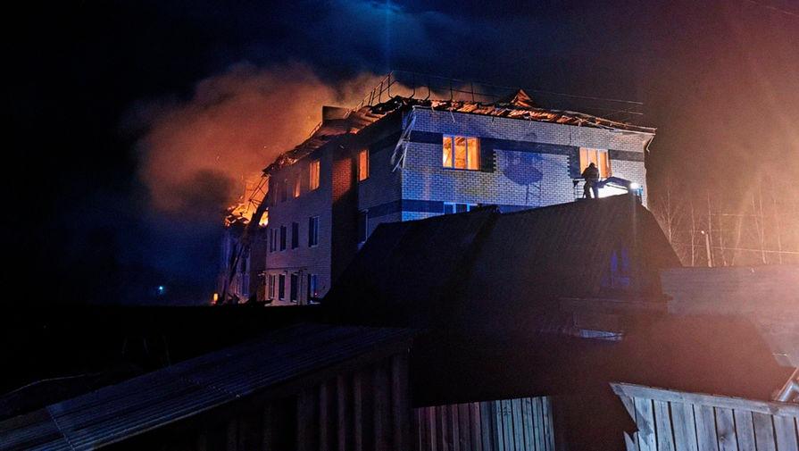 Последствия взрыва в жилом доме в селе Маргуша Дальнеконстантиновского района Нижегородской области в ночь на 20 апреля 2021 года