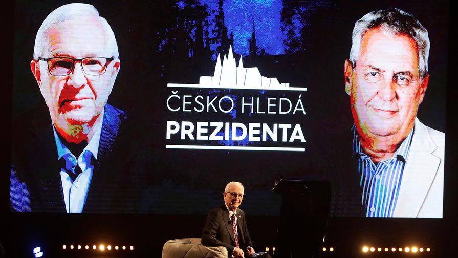 Теледебаты между кандидатами на президентских выборах в Чехии: бывшим главой Академии наук Иржи...