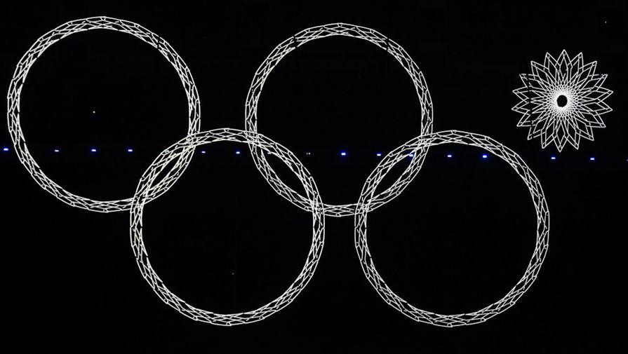 Четыре кольца на открытии Олимпиады в Сочи