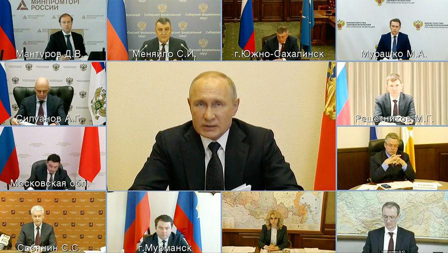 Путин: выпуск медицинских масок в России вырос в 10 раз