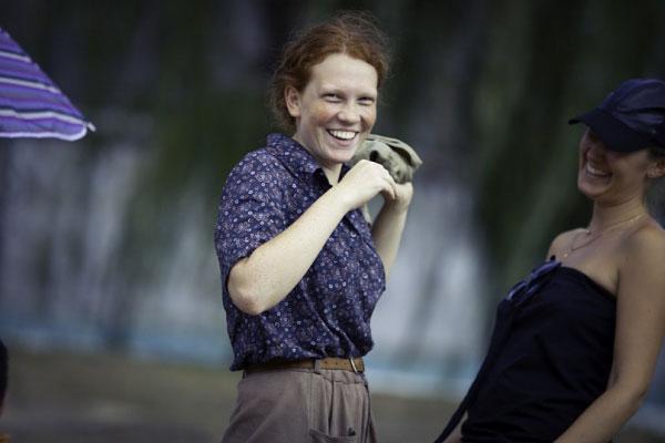 На съемках фильма «Милый Ханс, дорогой Петр», актриса Светлана Косолапова