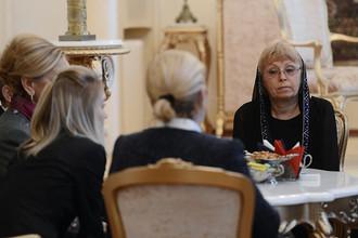 Вдова посла России в Турции Андрея Карлова Марина в российском посольстве в Турции, 10 января 2017 года