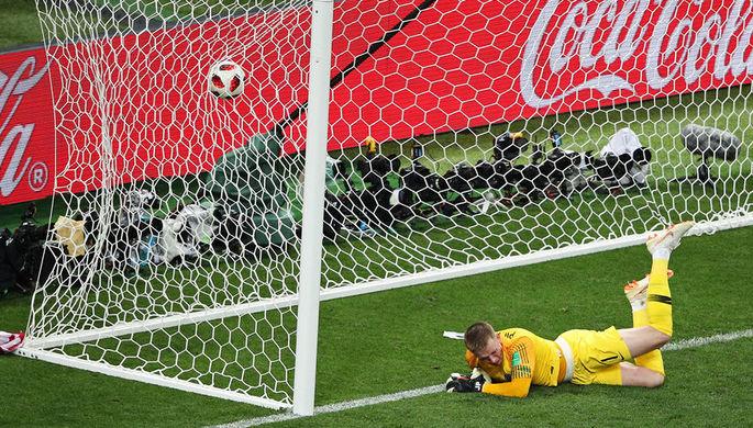 Во время полуфинального матча чемпионата мира по футболу между сборными Хорватии и Англии, 11 июля...
