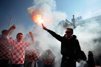 Хорватские фанаты «отличились» во время матча против сборной Сербии