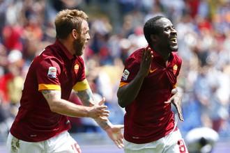 Сейду Думбия забивает во втором матче подряд. Он принес «Роме» победу над «Дженоа» — 2:0