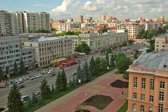 Вид на центр города Челябинск