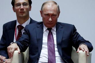 Президент России Владимир Путин во время посещения соревнований Международного турнира по дзюдо имени Дзигоро Кано во Владивостоке, 7 сентября 2017 года
