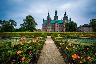 Сады и замок Розенборг в Копенгагене, Дания