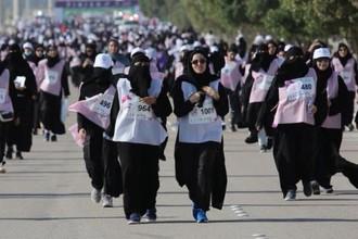 Марафон для женщин в Саудовской Аравии