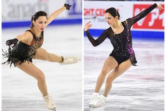 Российские фигуристки Евгения Медведева и Елизавета Туктамышева на Skate Canada