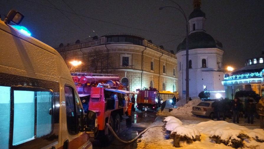 Пожар на территории  Киево-Печерской Лавры