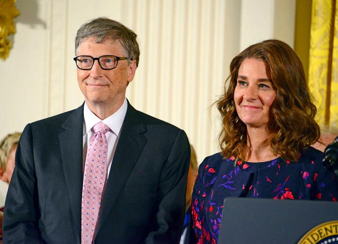 Билл и Мелинда Гейтс в Белом доме в Вашингтоне, 2016 год