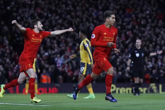 Полузащитник «Ливерпуля» Роберто Фирмино открыл счет в матче с «Арсеналом»