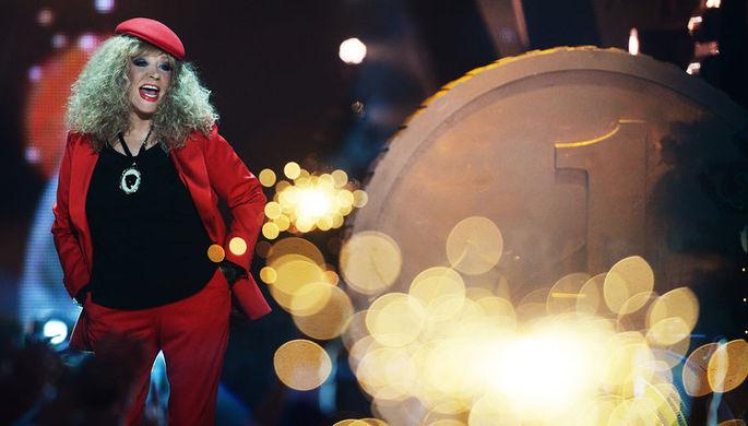 Певица Алла Пугачева на съемках новогодней программы на Первом канале, декабрь 2016 года