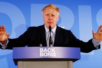 Борис Джонсон во время запуска кампании за место премьер-министра Великобритании в Лондоне, 12 июня 2019 года