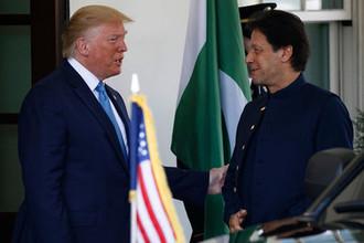 Президент США Дональд Трамп и премьер-министр Пакистана Имран Хан, 22 июля 2019 года