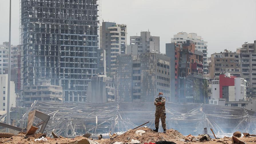 Последствия взрыва в порту Бейрута, 7 августа 2020 года