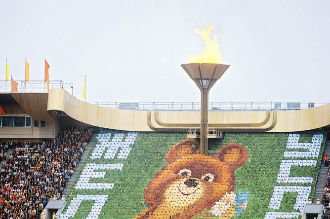 «Лужники» во время московской Олимпиады-80
