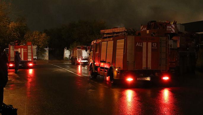В Москве произошел крупный пожар