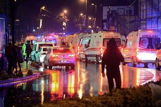 Ситуация рядом с местом атаки на клуб Reina в Стамбуле, 1 января 2017 года